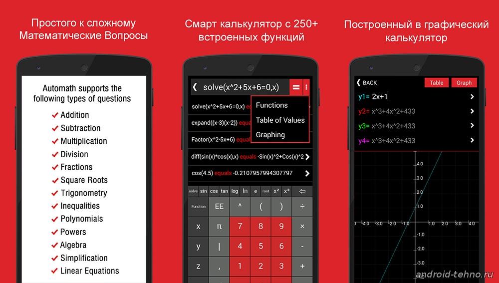 Програмку automath фото калькулятор