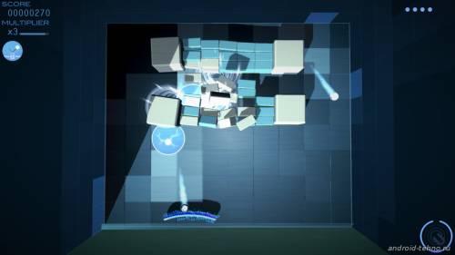 Играть в Арканоид онлайн Grey Cubes: 3D Brick Breaker