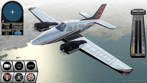 Flight Simulator X 2016 Air HD управляйте самолётами на Андроид