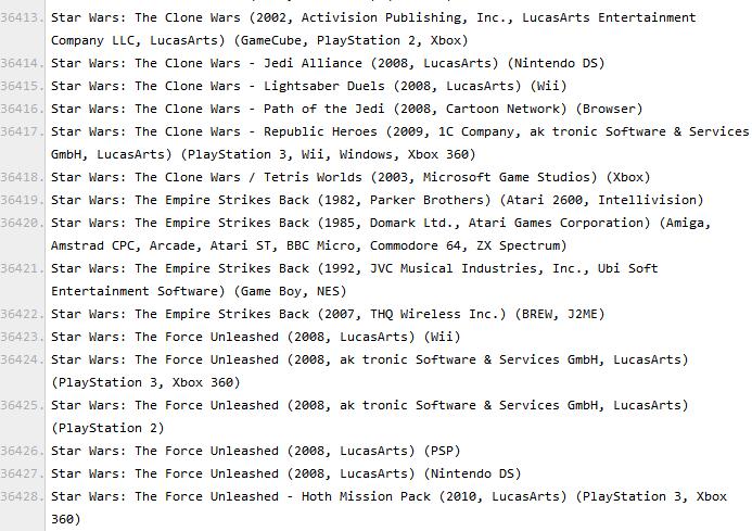 Ведутся работы по созданию списка всех видеоигр в истории