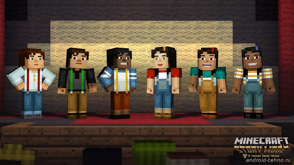 Minecraft: Story Mode на андроид - выбор персонажа