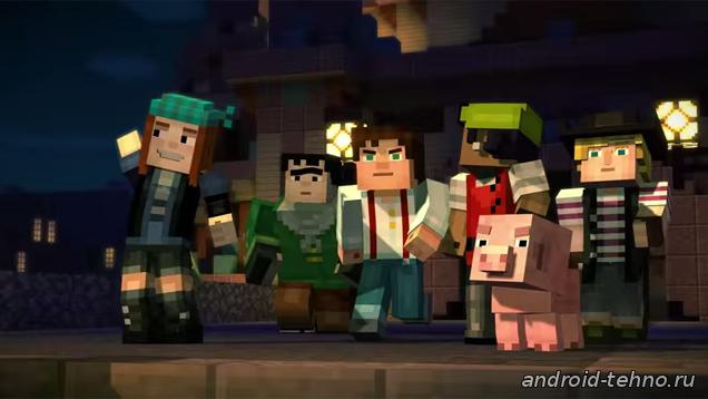 Minecraft: Story Mode для андроид - заставка