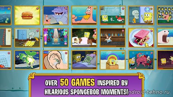 SpongeBob: GameFrenzy для андроид скачать бесплатно на android